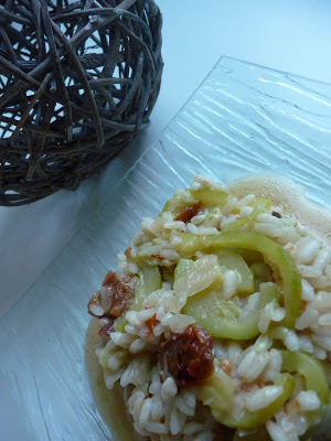 Risotto courgettes tomates s ch es et feta papilles on off - Risotto tomate thermomix ...